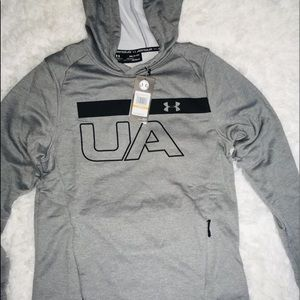 Under Armour Gray Long Sleeve Men's Hoodie sz SM